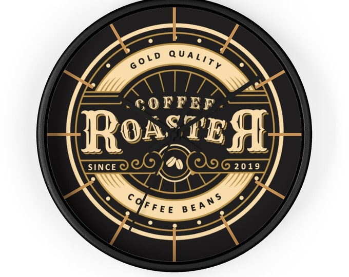 COFFEE BEANS ROASTER Coffee Clock - Wall Clock, Steampunk, Victorian, Art Deco, Vintage Decor