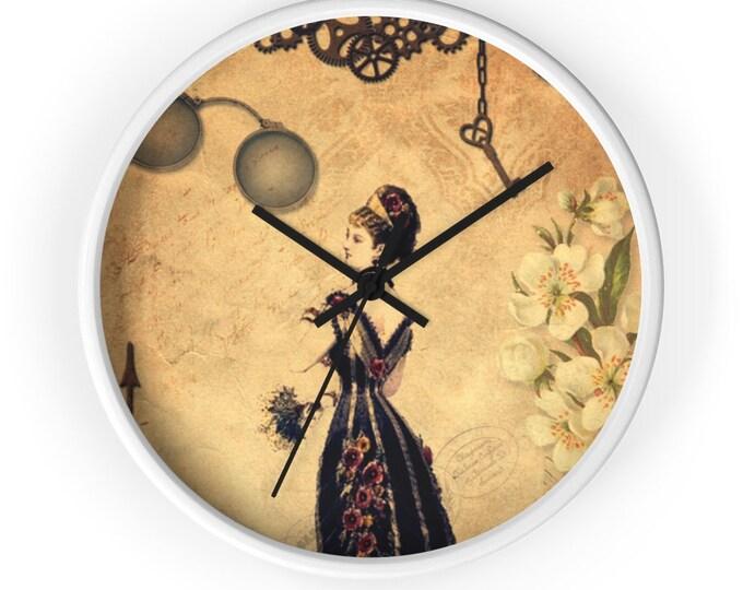 Steampunk Wall Clock - Victorian Woman With Tiara