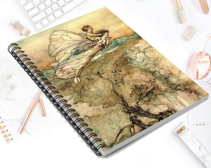 FAIRY SPIRAL NOTEBOOK - Blank Spiral Notebook, Lined Journal, Bullet Journal