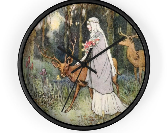 Fantasy Warwick Goble Print Wall Clock