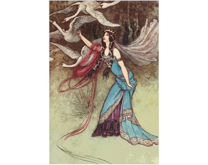 Thank You Note Card Set of 7 Warwick Goble Print Craft Envelopes