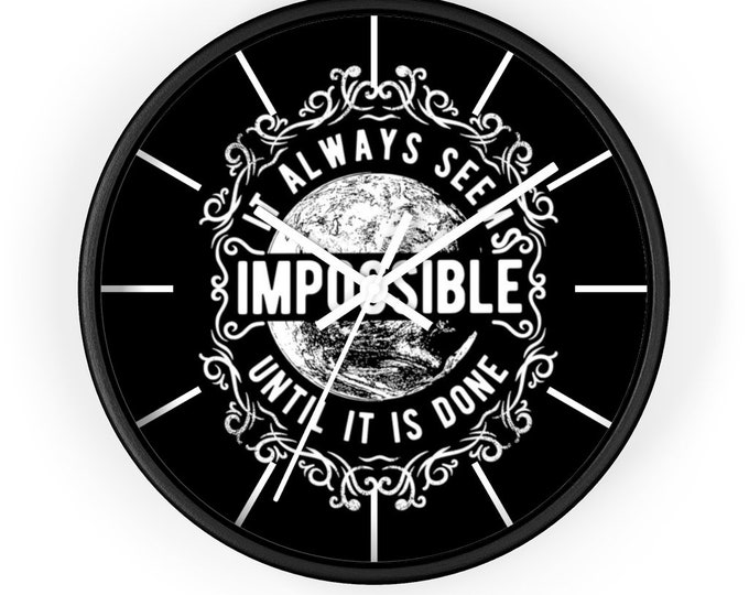 Man Cave Wall Clock, Steampunk Wall Clock, Motivational Quote