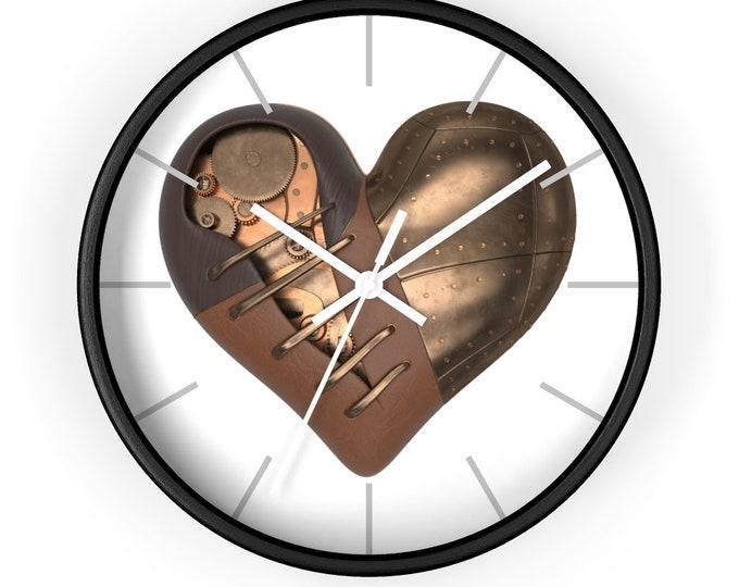 STEAMPUNK HEART CLOCK - Wall Clock, Mechanical Heart Clock, Ugears Clock
