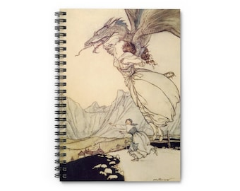 Spiral Notebook Warwick Goble Print on Cover - Dragon Lover Journal