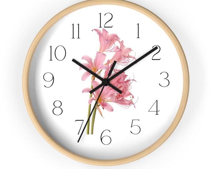 Day Lily Bouquet Minimalist Analog Wall Clock