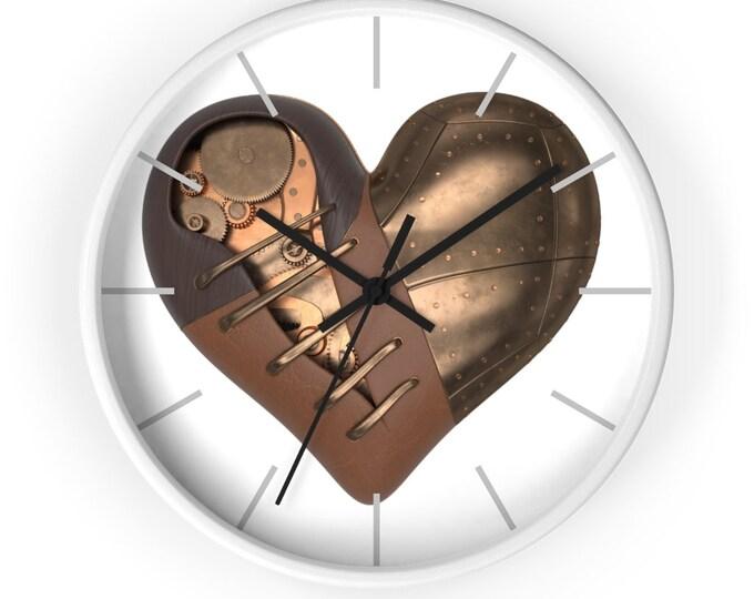 Stitched Mechanical Steampunk Heart Analog Wall Clock