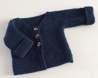 701b01df4 100 cashmere baby buttoned cardigan cable knit pattern hand knitted ...
