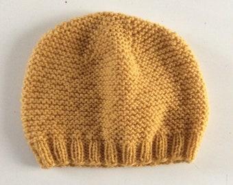 Bonnet bébé, bonnet pure laine, Mérinos (100%), bonnet point mousse, tricoté  à la main, bonnet fait main, bonnet laine fa0f9e86727