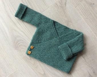 Baby bra, wool heart mask, wool armband, layette, baby waistcoat, pure wool (100% Merino), hand-knitted