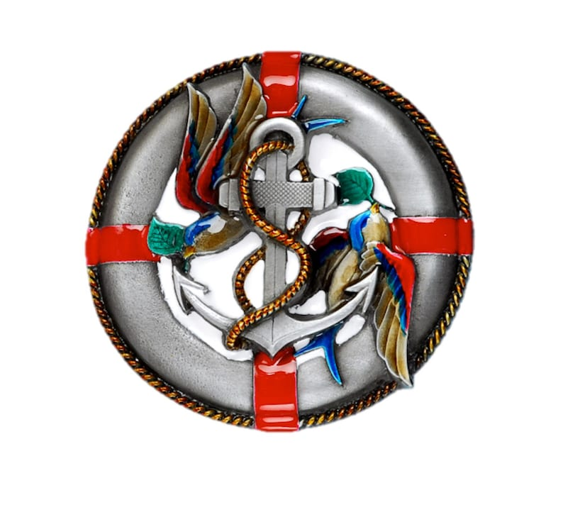 Life Boat and Anchor Belt Buckle