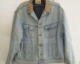 c5b0e6ca M/L 70s Wrangler denim jacket blanket lined lining wool cotton   Etsy