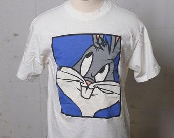 2d52444de577ef Vintage 90 s Bugs Bunny Warner Bros HUGE Print T Shirt Soft! Acme! L