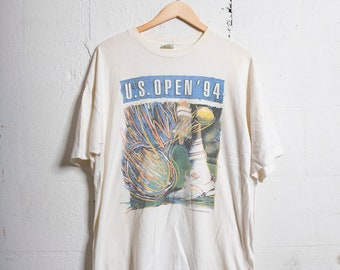 e4e54785 Vintage U.S. Open '94 Tennis T Shirt Soft! Beat! XL 1241