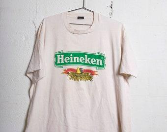35352180 Vintage 90's Heineken Beer T Shirt Thrashed! Soft! XXL