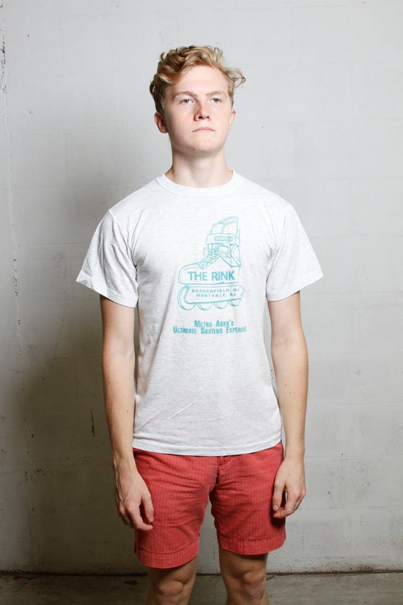 Vintage 90's The Rink New Jersey Roller Skating T Shirt L
