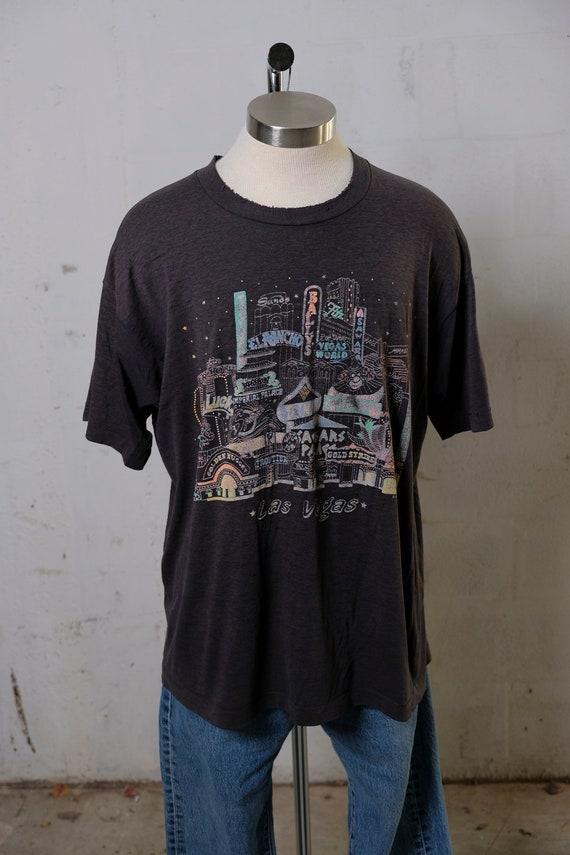 Vintage 90's Las Vegas Tourist Destination T Shirt Paper Thin! XXL