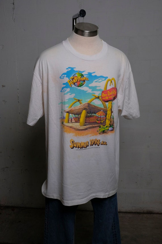 Vintage 90's Flintstones McDonalds RocDonalds Summer 1994 T Shirt Rare! XL