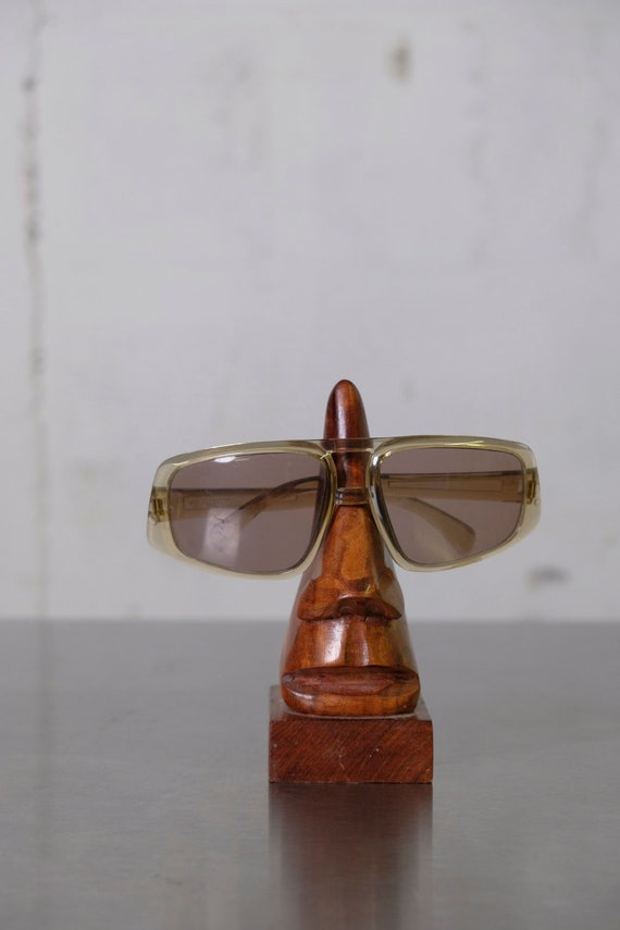 Vintage 60's Mens Mid-Century Mod Sunglasses Rare Shape Made in Italy