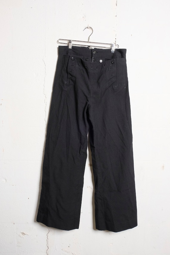Vintage US Navy 13 Button Enlisted Blue Wool Trousers Sz 33R