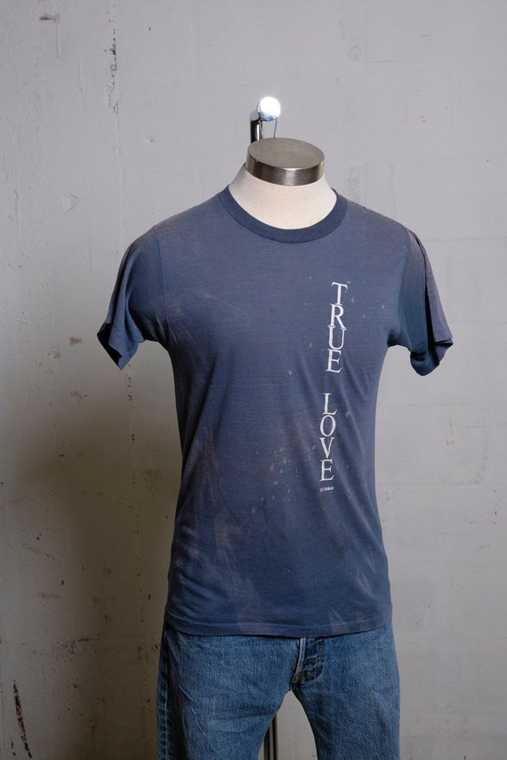 Vintage 80's True Love Sailing St. Thomas Island T Shirt Burnout! Soft! Thin! L