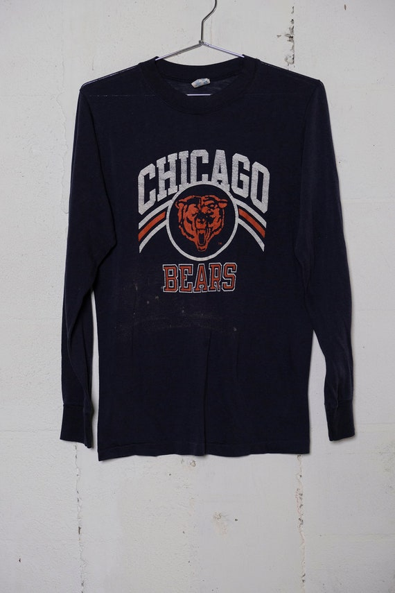 Vintage 80's Champion Chicago Bears LS Fan T Shirt Rare! Soft! L