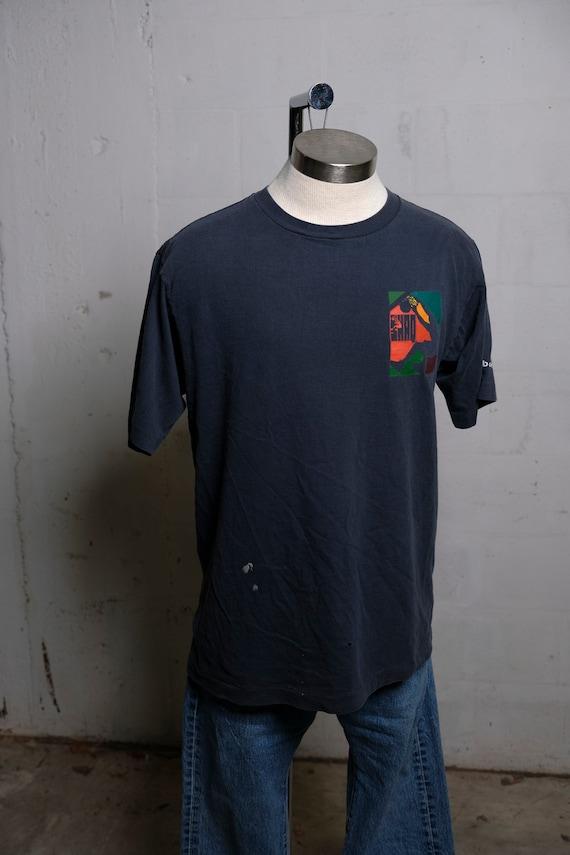 Vintage 90's Reebok SHAQ Basketball T Shirt Soft! Thrashed! Rare! L