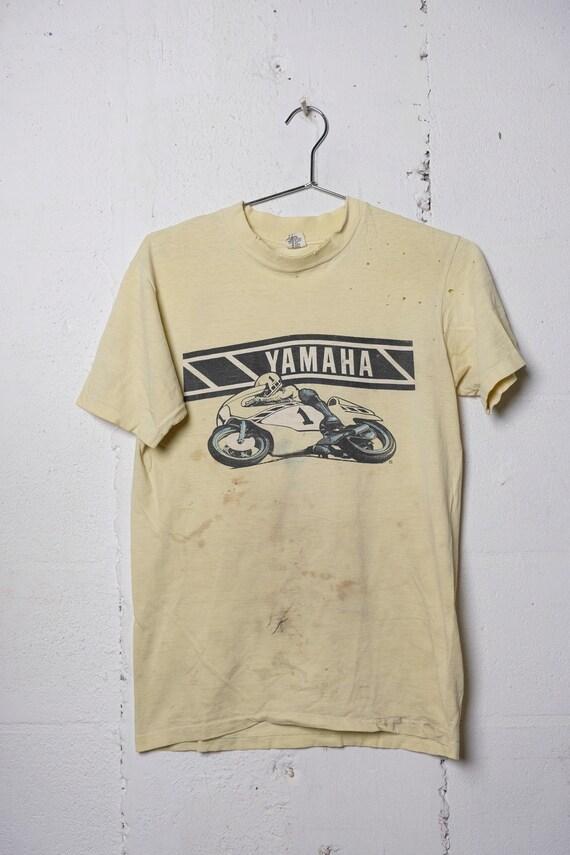 Vintage Rare 80's Yamaha Motorcycle Racing T Shirt Thrashed! Original! Soft! M