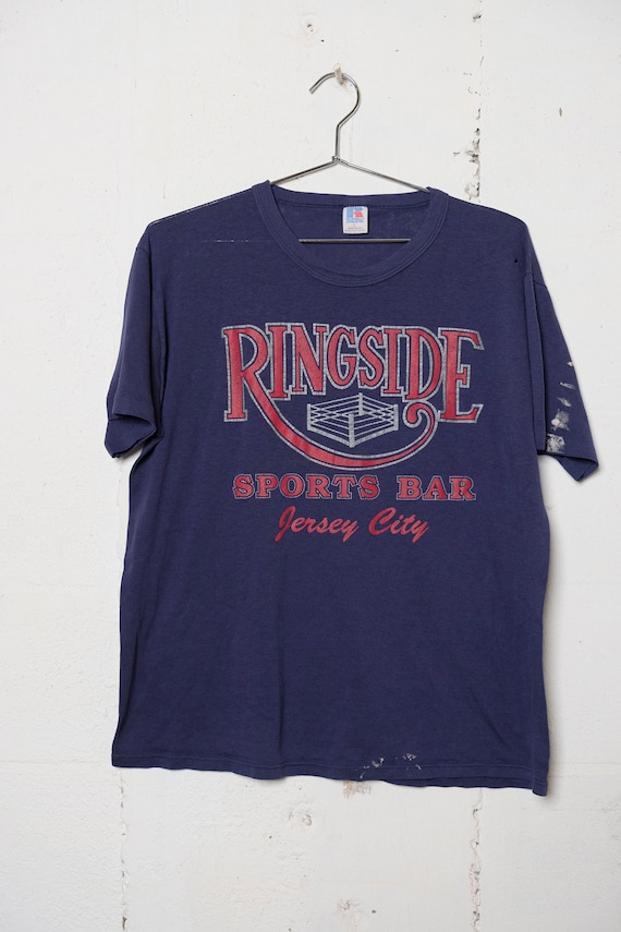 Vintage 90's Ringside Sports Bad T Shirt Jersey City Boxin! Thrashed! Thin! L