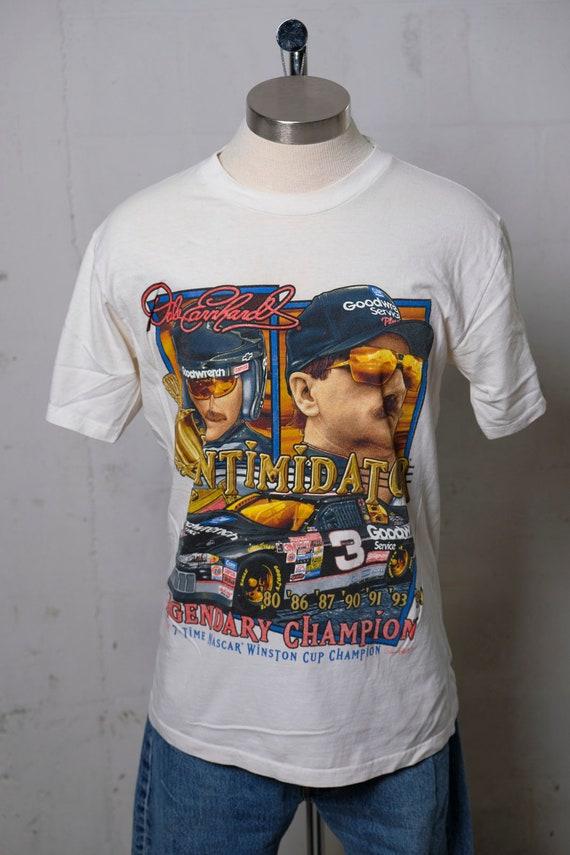 Vintage 90's Dale Earnhardt Intimidator Nascar Tribute T Shirt L