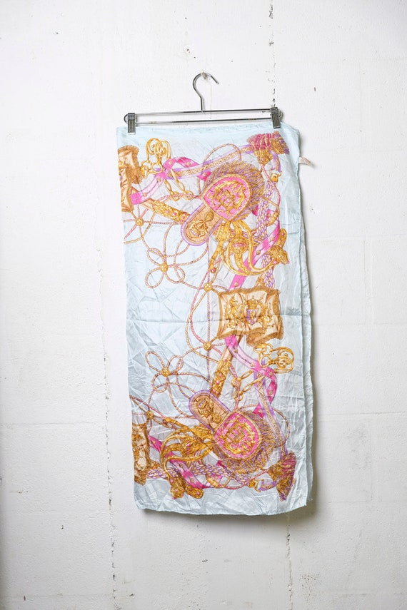 """Vintage 90's HERMES 100% Silk Scarf Made In Italy 34"""" x 34"""""""