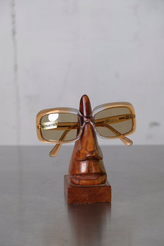 Vintage 70's Womens Mid-Century Mod Style Sunglasses Made in France