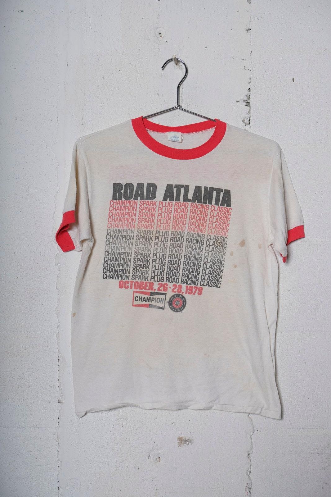 Vintage 1979 Road Atlanta Racing Classic Ringer T Shirt