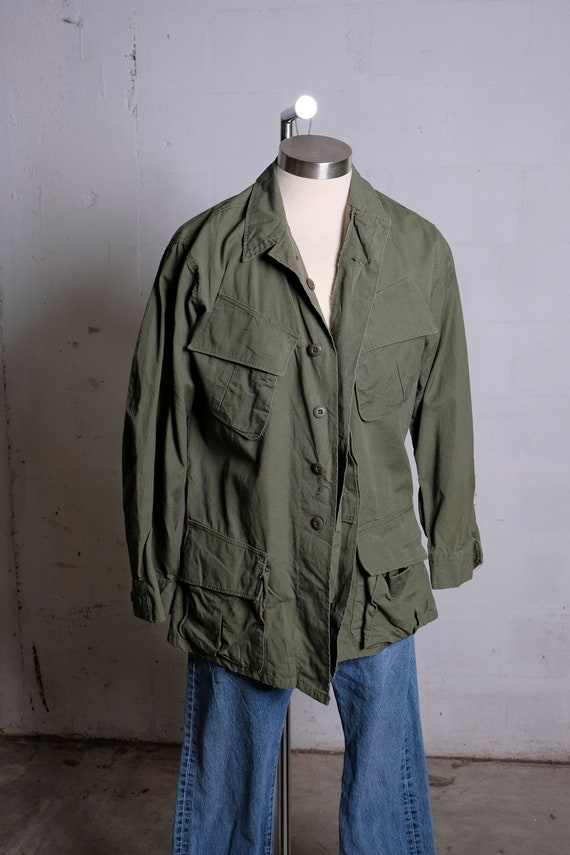 Vintage US Army Tropical Shade Field Coat Olive Green M Reg