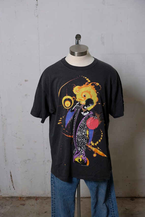 Vintage 90's Sandman DC Comics T Shirt Graphitti L
