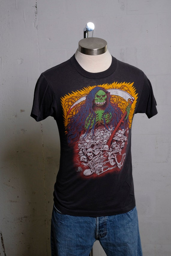 83c21fdcd XL $87.50 $125.00 Vintage 80's REAPER QFX T Shirt Screened in USA Rare!  Thin! Soft!