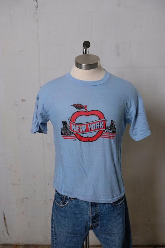 Vintage 1987 New York City Big Apple Tourist T Shirt Rare! Soft! L