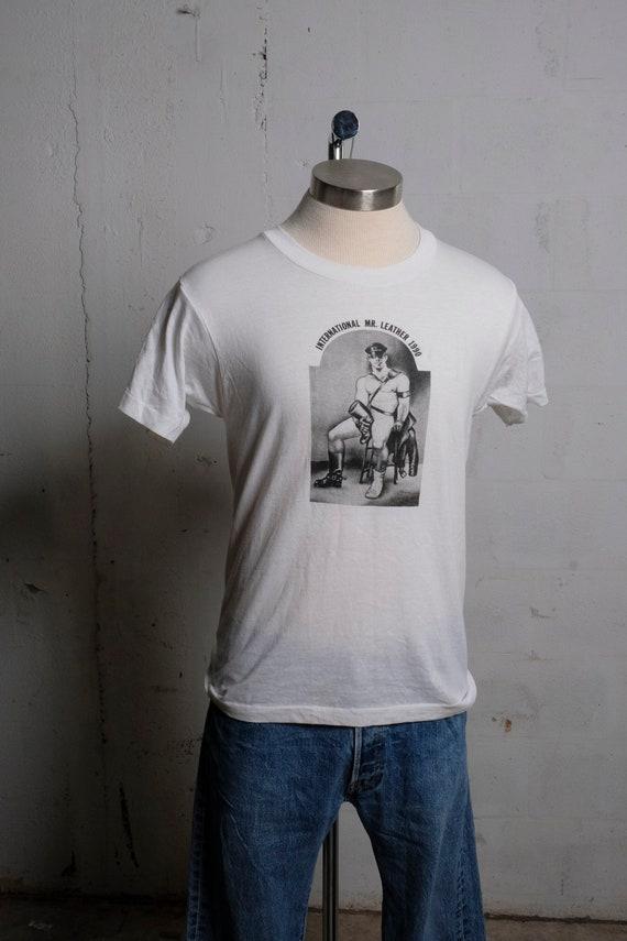 Vintage 1990 International Mr. Leather Contest T Shirt RARE! Soft! M