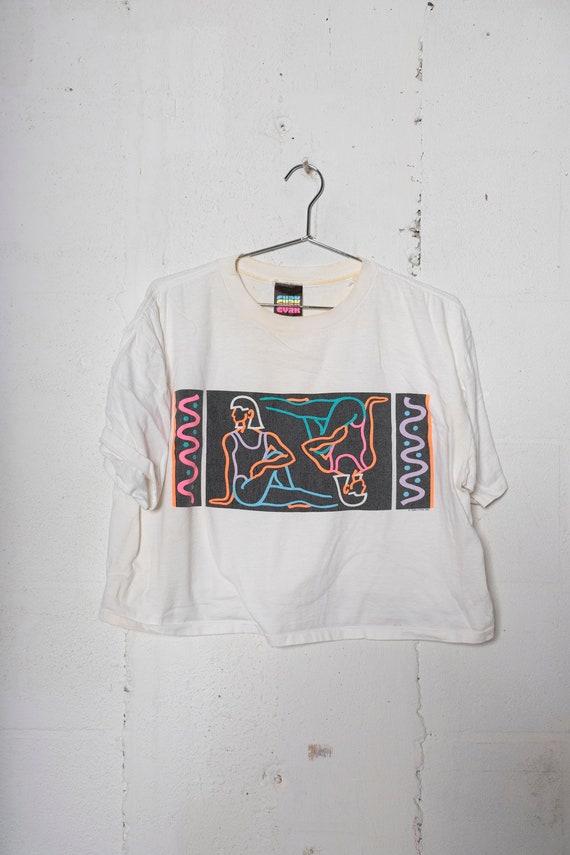 Vintage 1989 CYRK Polish Circus Art T Shirt Cropped Very Rare! Soft! L