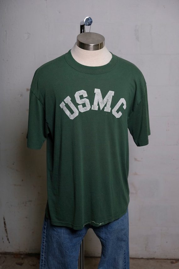 Vintage 80's USMC Official Candidates School T Shirt Soft! Thrashed! XL