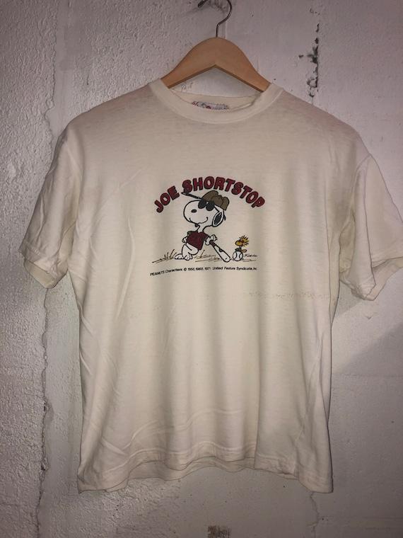 Vintage 80s Snoopy 'Joe Shortstop' Baseball T-Shir