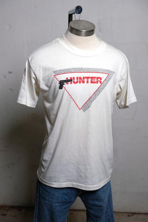 Vintage 90's Hunter Pistols T Shirt Soft! Thin! XL