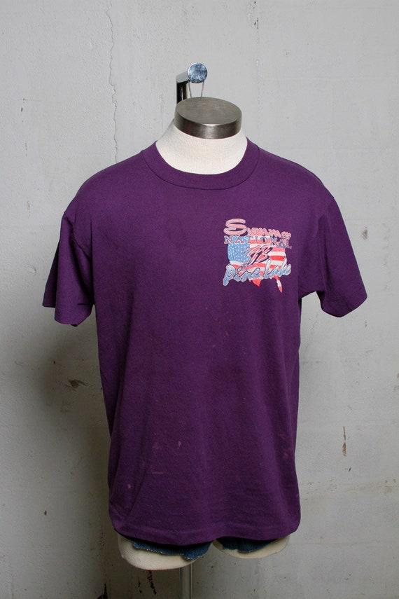 Vintage 90's Pine Lake Summer National Dirtbike Racing Shirt Purple! L