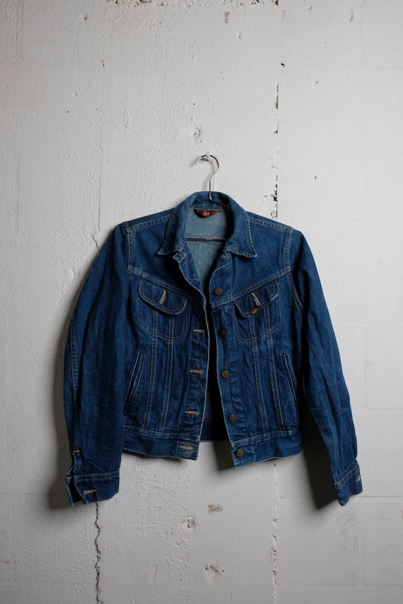 Vintage 70's Miss Lee Denim Trucker Jacket Rare! 7/8
