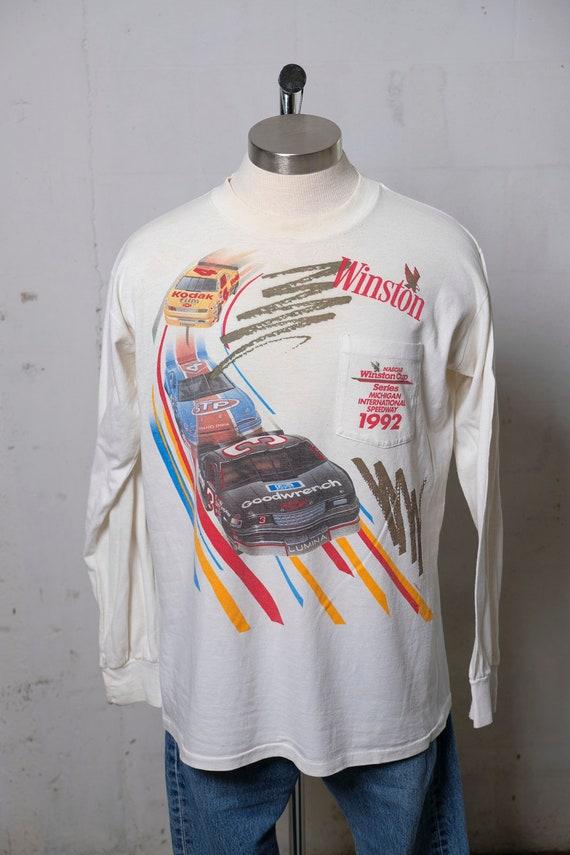 Vintage 1992 Nascar Winston Cup Series Official L/S T Shirt Rare! Soft! XL