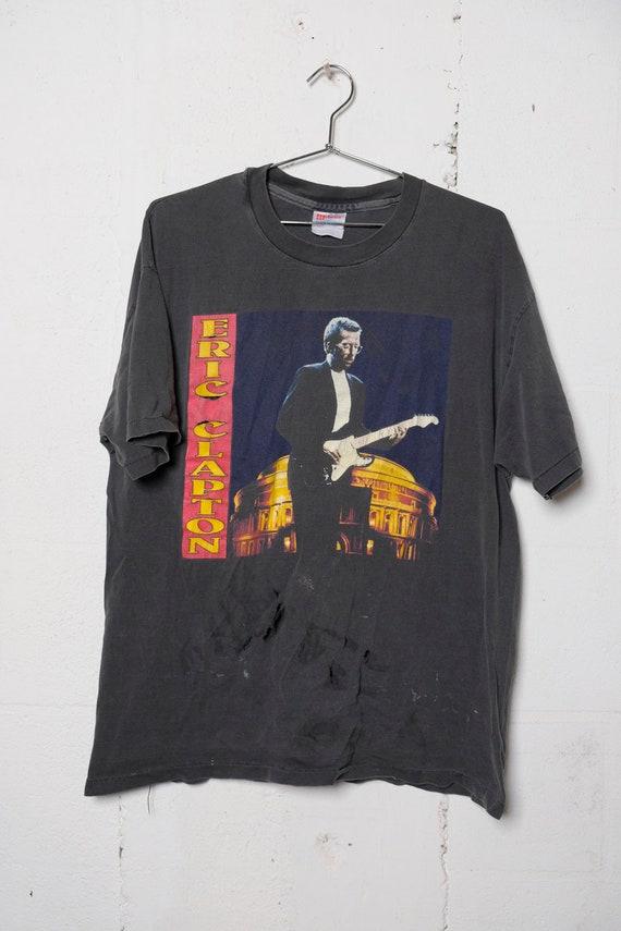 Vintage 1994 Eric Clapton North American Tour Rock Concert Band T Shirt Rare! Beat! Thrashed! XL