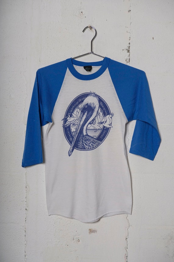 Vintage 80's Montara Lighthouse Hostel Bluegrass Festival 3/4 Sleeve T Shirt Soft! Half Moon California! S