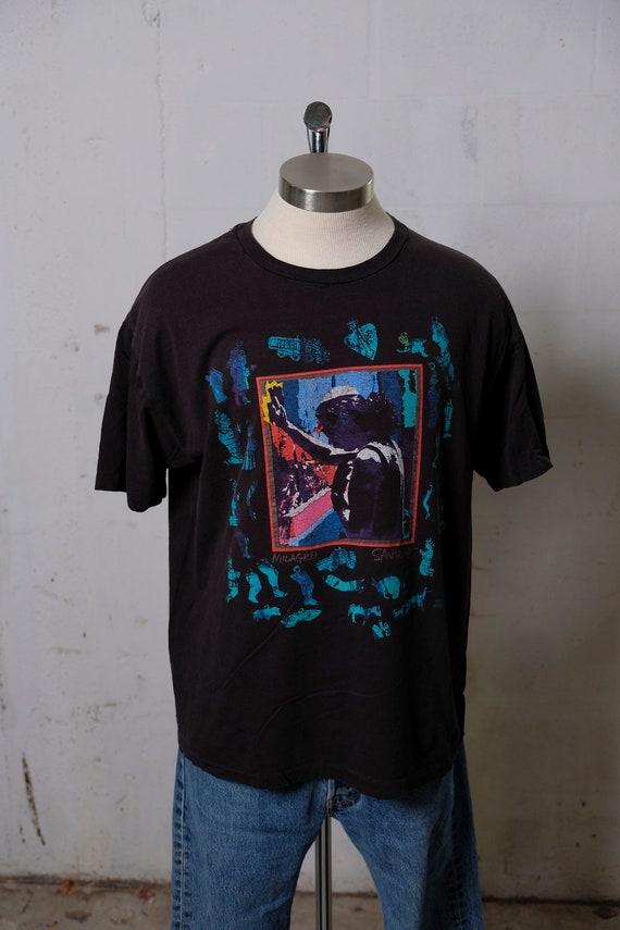 Vintage 1992 Carlos Santana Milagro Rock Band Concert Tour T Shirt Rare! Bill Graham! XL