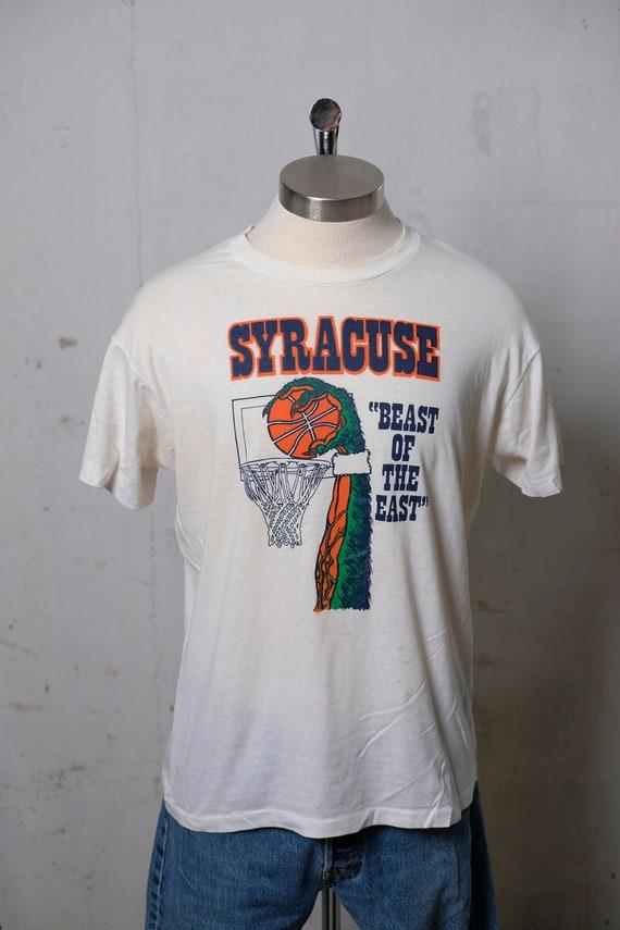 Vintage 80's Syracuse Basketball Beast of The East T Shirt Rare! Soft! Thin! XL