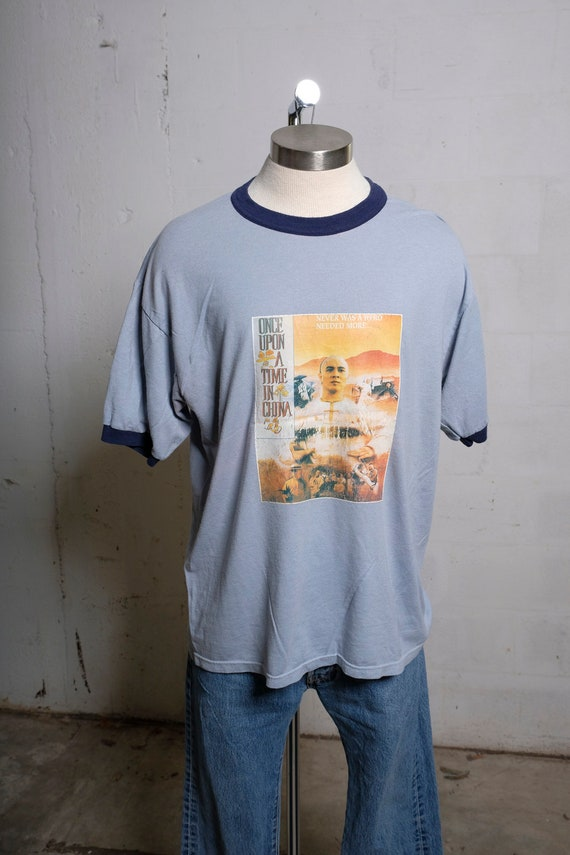 Vintage 1991 Jet Li Once Upon A Time In China Movie Promo T Shirt Rare! XL