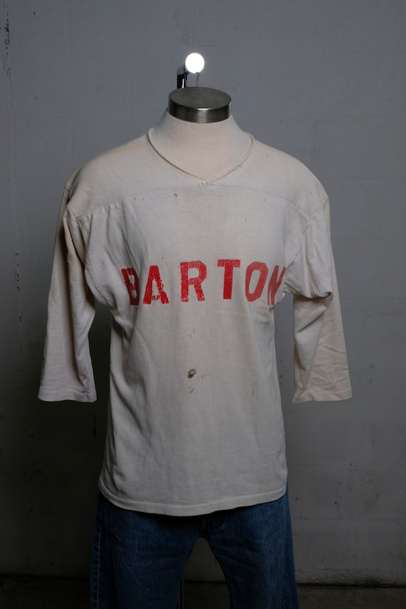 Vintage 60's BARTON Football Jersey #42 Game Used Rare
